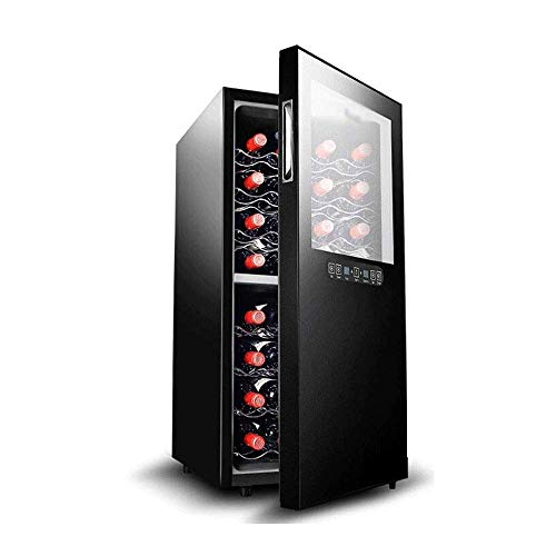 Atten Wine Cooler Red and White Grape Display Cabinet with LED Digital Temperature Display Freestanding Refrigerator Silent Operation 32 Bottles 78L