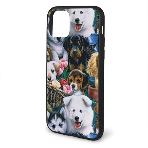 Hond Manden en Honden Anti-Scratch Schokbestendig Anti-Vinger Print Flexibele TPU Case voor iPhone 11 Pro Max 2019(6.5
