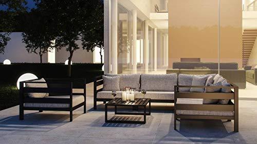 ARTELIA Adriano L Loungemöbel Set 6 Personen - Premium Gartenmöbel Set für Terrasse, Garten und Wintergarten, Terrassenmöbel Anthrazit - 2