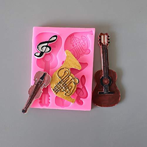 N/ A Niedliche Bär Erbse Gemüse Gitarre Noten Form Silikon Kuchenform Werkzeug Schokolade Flüssige Kieselgel Form Küche Backton Form