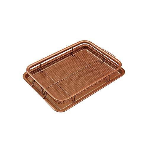 UTDKLPBXAQ Nonstick Cookie Sheet Baking Sheet Pan with Stainless Steel Oven Safe Cooling Rack