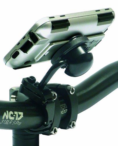 NC-17 4009 - Soporte de Bicicleta para iPhone (Incluye Funda para iPhone, Aluminio), Color Negro