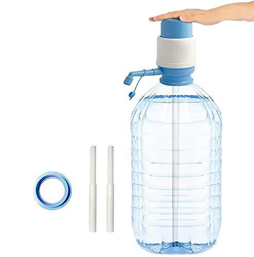 B&F Dispensador de Agua Universal para Garrafas/Botellones/Barriles Compatible con Garrafas de 2L/5L/6L/8L/10L/12L/ Bomba Manual de Mano para Garrafas/Dispensador Manual de Agua A Presión