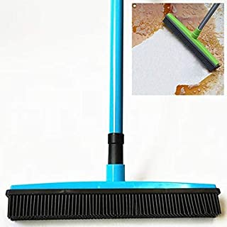 Household Cleaning Tools 2 PCS Pet Carpet Hair Removal Broom Scraping Dust-Free Hand-Washing Mop Rubber Floor Brush