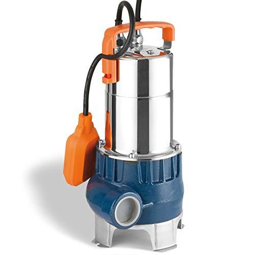 EU-Qualitätprodukt! Flachsaugende Schmutzwasser Tauchpumpe DRAINAGEPUMPE FÄKALIENPUMPE TROPFKÖRPERPUMPE KLÄRANLAGENPUMPE Pumpe DRAIN-VORTEX-600-ZXm als Gartenpumpe zum Bewässern und als Kellerpumpe