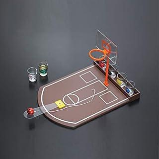 Zgifts Mini Mesa de Baloncesto Juego de Beber Competencia portátil de Escritorio Deportes Tiro Juguete Doble aro-Oficina Bar Partido Juego para Interior al Aire Libre