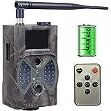 Amacthysh 2G Cámara de Caza Nocturna Envío Mensaje Invisible Visión Nocturna Distancia de Disparo hasta 20m con Tarjeta SD 12MP 1080P Vigilancia Trail Cámara de Juego Impermeable IP54