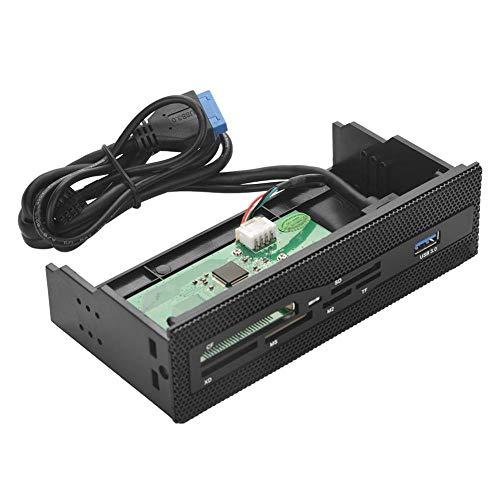 gostcai Lector de Tarjetas Interno para PC, Lector de Tarjetas Interno de 5,25 con Puerto USB 3.0 M2 MS XD CF Panel Frontal del Tablero de Instrumentos de Tarjetas TF, lectores de Tarjetas de Memoria