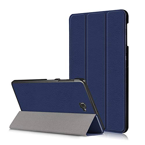 Samsung Galaxy Tab A6 10.1'' Hülle Case - Smart Case Cover PU Leder Tasche Schutzhülle für Samsung Galaxy Tab A 10.1 Zoll Wi-Fi/LTE (2016) SM-T580N/SM-T585N Tablet mit Support-Funktion,Navy-blau