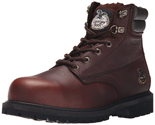 Georgia mens Oiler-m Georgia Steel Toe Work Boot, Brown, 9.5 Wide US