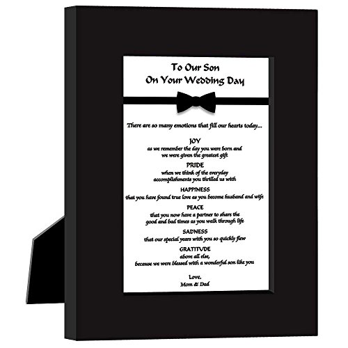 Wedding Gift for Son From Parents 'To Our Son On Your Wedding Day' Poem in Frame