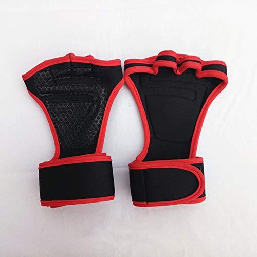 Guantes de gimnasio para levantamiento pesas, guantes entrenamiento transpirables con espalda abierta soporte completo la muñeca, protección palma y agarre adicional, duraderos hombres mujeres