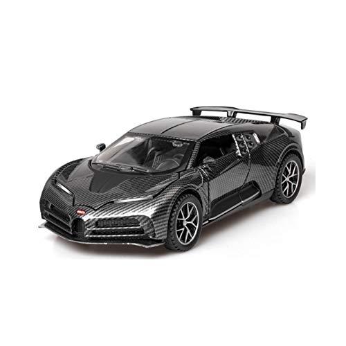 NMBD 1/32 Versión De Fibra De Carbono Bugatti 110 ° Aniversario Modelo De Aleación De Superdeportivo Vehículo De Juguete Luz De Sonido Extraíble Juguetes De Coche Colección