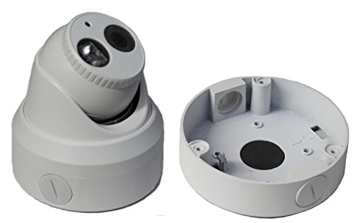 Kenuco Junction Box/Mounting Base Hikvision Turret Camera DS-2CD23x2 Size   130MM X 32MM   BOX03 (1 Pack, White)