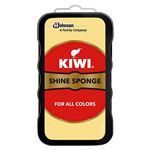 KIWI Shoe Shine Sponge | Leather Care for Shoes, Boots, Furniture, Jacket, Briefcase and More | All Colors