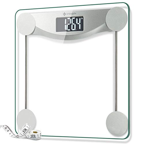 Etekcity Digital Body Weight Bathroom Scale with StepOn Technology 440 Pounds Body Tape Measure Included