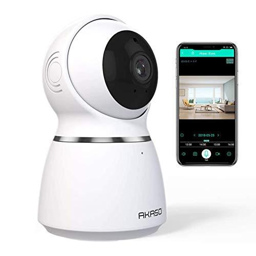 AKASO Cámara de Vigilancia Interior WiFi 1080P 360° 3D Auto-Seguimiento IP Cámara de Seguridad Inalámbrica Doméstica...