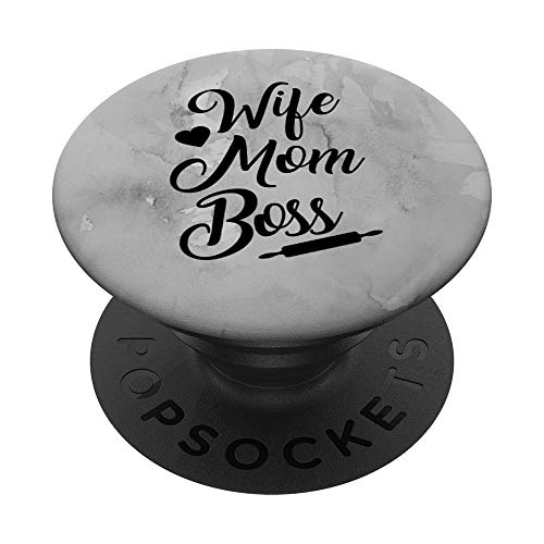 Wife Mom Boss Mother Birthday Christmas Gift PopSockets PopGrip: Swappable Grip for Phones & Tablets