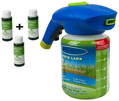N / A Hydro Mousse Sprührasen Hydro Mousse Liquid Lawn Fertiliser Liquid Lawn System Grass Seed Sprayer for Seed Lawn Care Grass Shot Household Seeding System with Nutrient Solution (3pcsliquids)