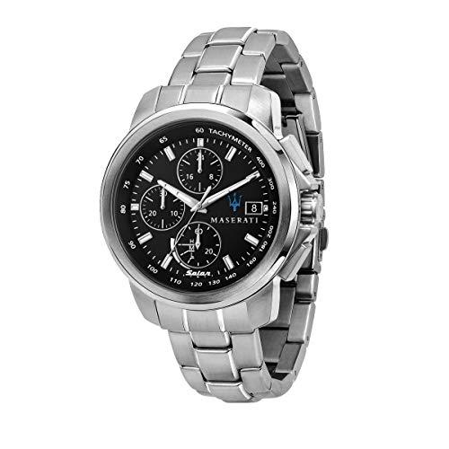 Maserati Reloj Hombre, Colección SUCCESSO Solar, Cuarzo, Solo Tiempo, en Acero - R8873645003