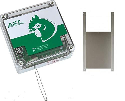 AXT Elektronischer Pförtner mit Batterie Hühnerklappe 40 x 50 cm
