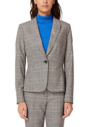 s.Oliver BLACK LABEL Damen Taillierter Glencheck-Blazer blue check 44