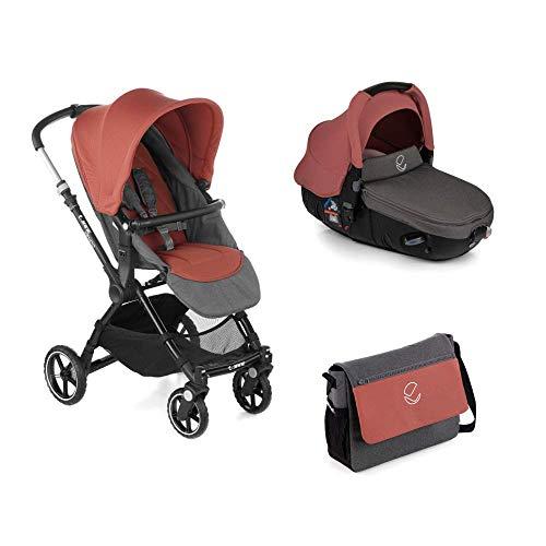 Jané Kendo - Cochecito de bebe 2 piezas, silla de paseo y portabebé convertible matrix light 2,...