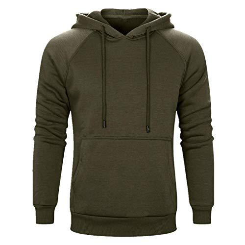 PPPPA Men's Pullover Hoodies Hooded Sweatshirt Camo Patchwork Top Casual Hoody with Pocket Men's Zip Hoodie Camo Solid Color Top Hooded Sweatshirt Casual Hoodies with Pocket Army Green