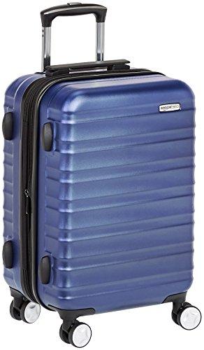 Amazon Basics - Maleta de mano rígida de alta calidad, con ruedas y cerradura TSA incorporada, 55 cm, Azul
