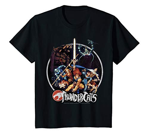 Kids ThunderCats Group Shot Vintage Circle T-Shirt, 4 Colors, 2 to 12 Years