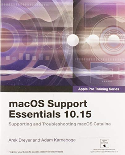 macOS Support Essentials 10 15 Apple Pro Training Series Supporting and Troubleshooting macOS product image