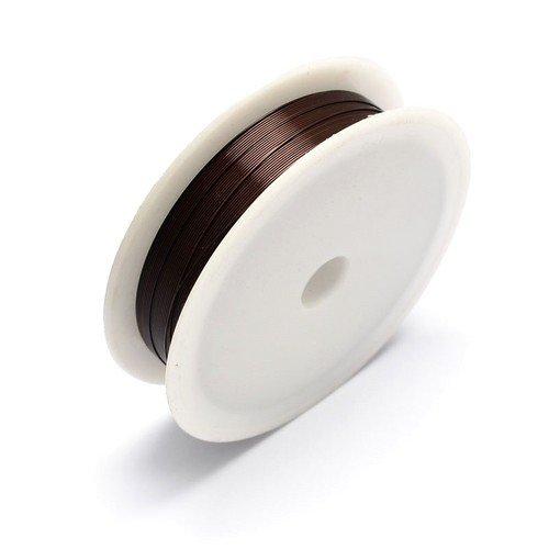 Charming Beads Ferro Filo Marrone Scuro Smaltato 20M Bobina 0.3mm Spessore