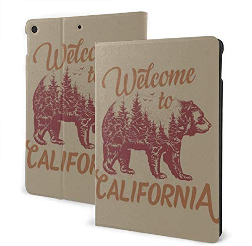 Welcome to California Case for New IPad 7th Generation 10.2 Inch 2019 Multi-Angle Viewing Folio Smart Stand Cover Auto Wake/Sleep for IPad 10.2' Tablet
