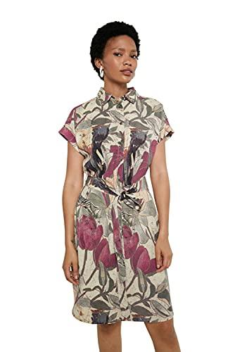 Desigual Vest_ETNICAN Vestido Casual, Multicolor, S para Mujer