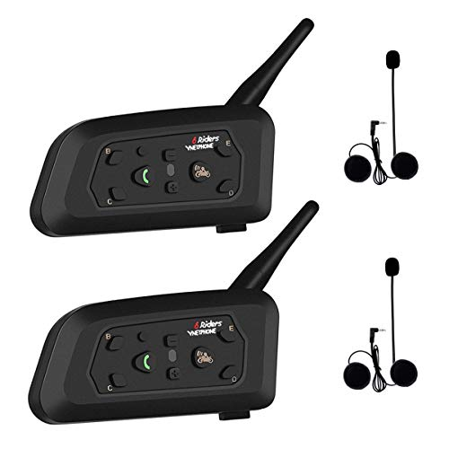 seiyishi トランシーバー Bluetooth マイク 防水 通話 バイク インカム 2台セット 音楽 ワイヤレス v6 タンデム 日本語説明書 SY-NSK058