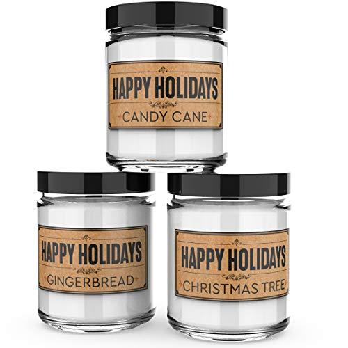 Happy Holidays Scented Christmas Candles