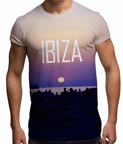 Bang Tidy Clothing Camiseta de impresión Completa por sublimación para Hombre Noche Ibiza 2015 para Vacaciones y Festivales