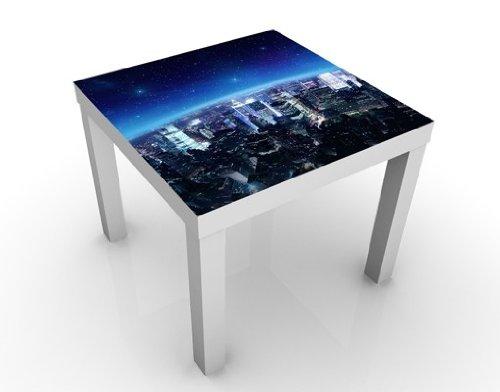 Apalis Table Basse Design Illuminated New York 55x55x45cm, Tischfarbe:Schwarz;Größe:55 x 55 x 45cm