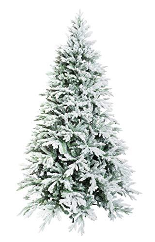 XONE Albero di Natale Romanov 240 cm - Innevato e folto | Albero Bianco Artificiale in PVC e PE Effetto Real Touch