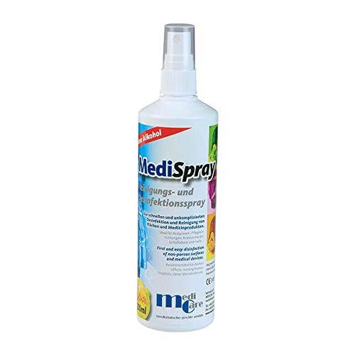 Medispray lemon, Desinfektionsspray für Oberflächen und medizinische Geräte.
