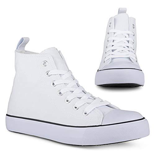 Twisted KIX Damen Hi-Top Schnürschuh Mode Sneaker, Wei� (weiß), 37 EU