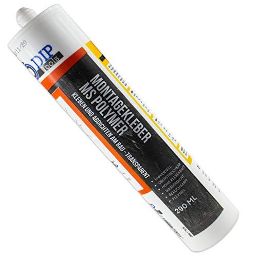 DIP-Tools Universal-Montagekleber - extra stark zum Kleben und Dichten - transparent (1, 290ml)