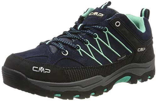 CMP Kids Rigel Low Shoes Wp Trekking- & Wanderhalbschuhe, Blau (B.Blue-Aqua Mint 12nd), 34 EU