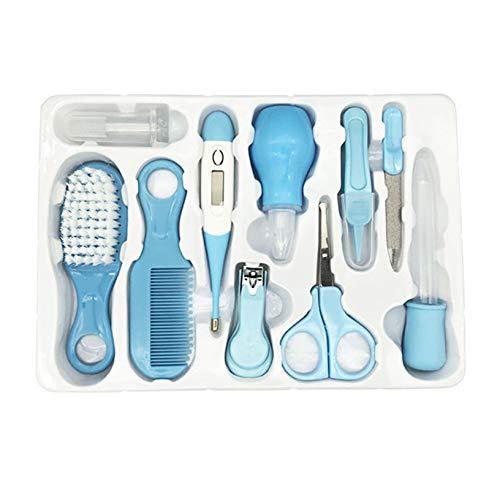 YHFJB 10 (Stück/Set) Neugeborenes Baby-Nagelschneider-Kit Körperpflege Tragbares Baby-Pflege-Kit Nagelknipser-Pflegeset für Baby-Mutter-Geschenke,Blau