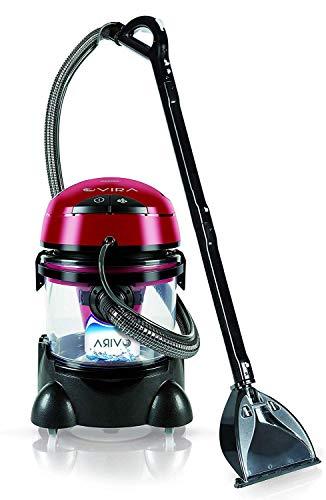 MPM Vira Lava-aspiradora con Limpiador de tapiceria para Coche, Alfombras, Colchones, aspiradora en humedo seco HEPA, depósito de 10 litros residuos, depósito detergente 4,5 litros, 2400W