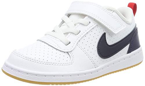 Nike Court Borough Low (TDV), Sneaker Bambino, Bianco (White/Obsidian/Univ Red/Gum Lt Brown 105), 22 EU