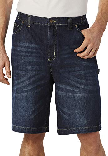 Liberty Blues Men's Big & Tall Denim Carpenter Shorts - Tall - 38, Medium Blue