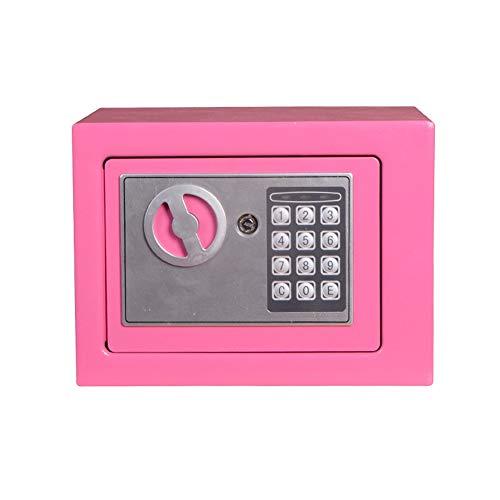 MxZas Wandkluis, digitale kleine kluis, staal, elektronische kluis, met vergrendelingstoetsenbord voor geld, sieraden, veiligheidskast