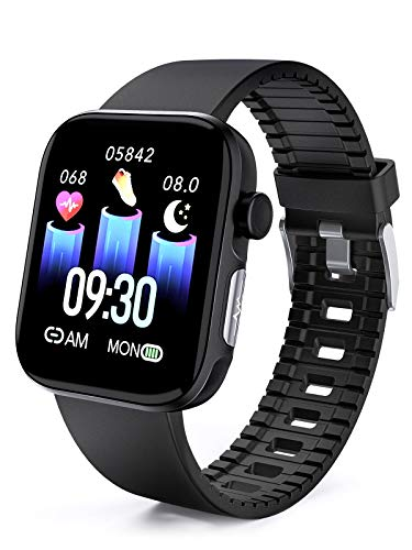 RichLcc Smart Watch HRV Activity Tracker Blood Oxygen Meter Heart Rate Blood Pressure Monitor Waterproof Fitness Tracker Watch with Sleep Monitor Smart Band Calories Pedometer for Women Men (Black)