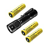 NITECORE E4K Next generation 21700 Compact EDC Flashlight - 4x CREE XP-L2 V6-4400 Lumens w/3x NITECORE NL2150HPR Rechargeable Li-ion Batteries